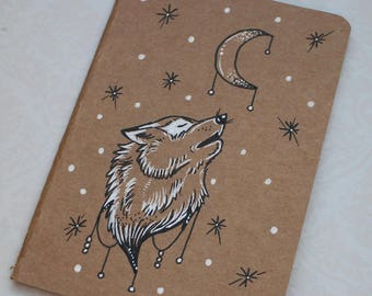 "Sketchbook - Notebook Kraft ""Wolf"""