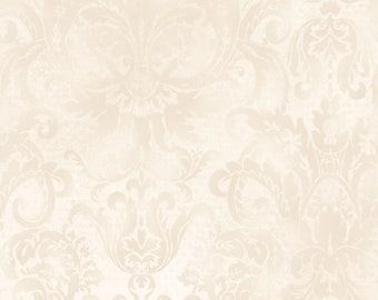 Softened Damask - Cream by Maywood Studio MAS103-E Cotton Fabric Yardage