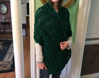 Hand Crochet Prayer Shawl