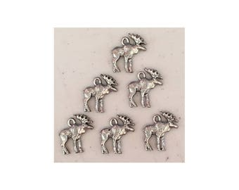 Moose CHARM (6) charms antique pewter - 6 charms per pack moose
