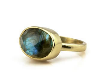 SALE - Labradorite ring,gold ring,stacking ring,gemstone ring,semiprecious ring,engagement ring,promise ring