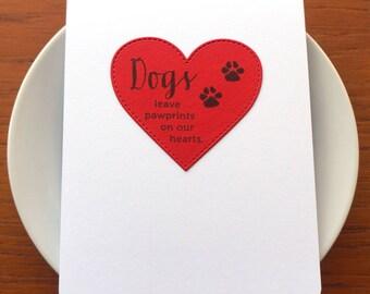 dog loss card // pet loss card // sympathy card // dog sympathy card // pet sympathy // condolence card