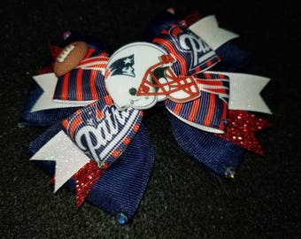 NFL New England Patriots HairBow