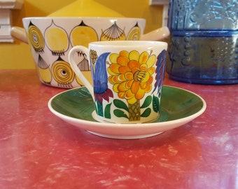 Stig Lindberg Gustavsberg Tahiti Porcelain Cup and Saucer