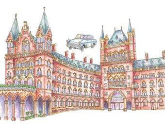 Illustrated London Art Print of St Pancras