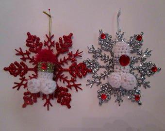 Erotic snowflake ornament