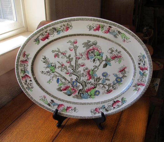 Indian Tree 14 Inch Platter Johnson Bros China