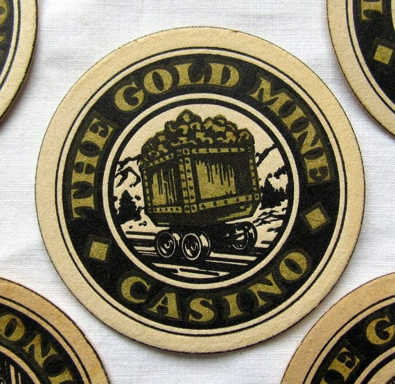 Five Gold Mine Casino Coasters