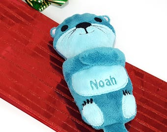 Christmas Stocking Stuffer, Otter Plush, Gift for Kids, Sea Otter Stuffed Animal, Handmade Plush, Personalized Toys, Ocean Baby Shower Gift