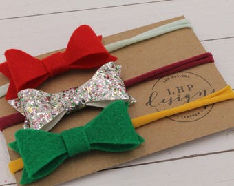Felt Hair Band Trio- Valentine's Day, St. Patrick's Day, Easter
