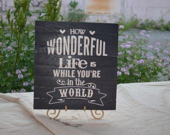 How Wonderful Life Is...
