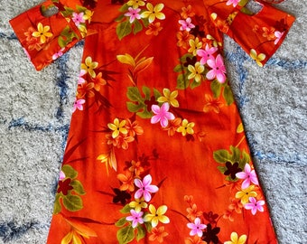 1960's Mod Hawaiin Tiki Dress