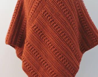 Poncho in Copper Colour , Brown