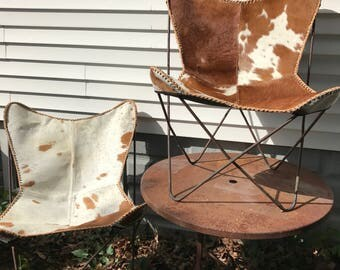 Mid Century Butterfly Chairs Knoll Hardoy Butterfly Chairs Frames Iron Metal Sling Chairs Cowhide Leather Modern Vintage