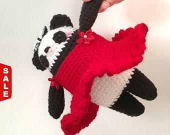 Sale -  Amigurumi Panda Bear Crochet Panda Doll Stuffed Animals Crochet Doll Kids Toy Nursery Decor Birthday Gift for Kids Baby Shower Gift