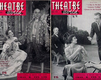 Theatre World Magazine 1954, COMPLETE YEAR , All 12 Issues,  in Very Good Condition
