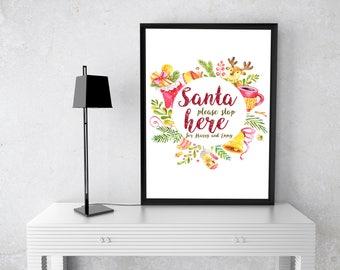 Christmas Wall Art christmas wall art | etsy