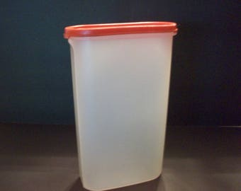 Vintage Tupperware Tall Modular Mate with Red Seal, Tupperware, Kitchen Storage Containers