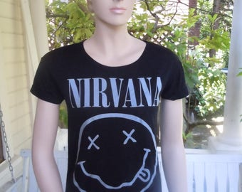 Size XS+ (35-36) ** Nirvana Shirt (Single Sided)