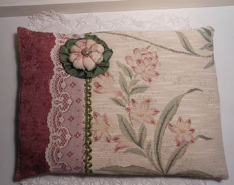 Pink, romantic pillow and flower Japanese fabric