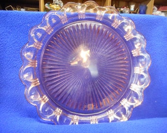 "13"" Old Colony (Lace Edge) Pink Plate, Closed Outer Rim.  Small Underside chip."