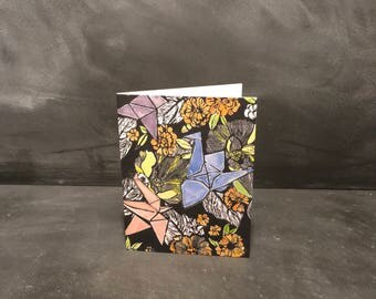 Origami Cranes - Greeting Card