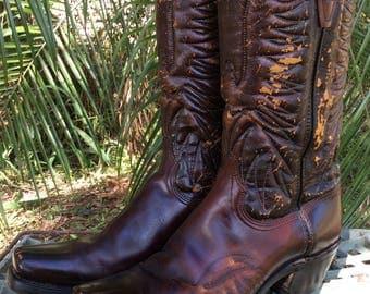 Vintage Motorcycle Boots Vintage Biker Boots Vintage Rocker Boots 10.5D