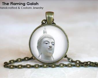 THAI BUDDHA Pendant •  Buddha Art •  Buddha Face •  Buddhist Jewellery •  Buddhism •  Made in Australia  (P1482)