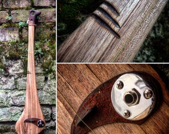 One-string Celtic diddley bow made out of a hurley stick by DaShtick guitars. CBG