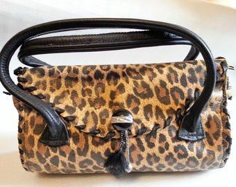 small ststchel,small bag,pocket,real leather,leopard,leolock,leostyl,Rockstyl,Party,handmade,handkraftet,animalprint,hand bag,saddle bag