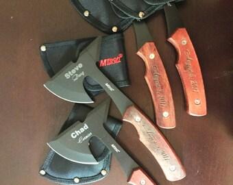 Customized Tomahawk, Custom Knife, Groomsman Knives, Groomsman Axe, Engraved Groomsman Hatchets, Father of the Bride Knife Gift, Best Man
