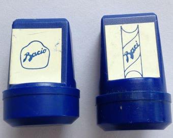 Baci Perugina, Bacio chocolate, merchandising, stamps, set of two, late 80s
