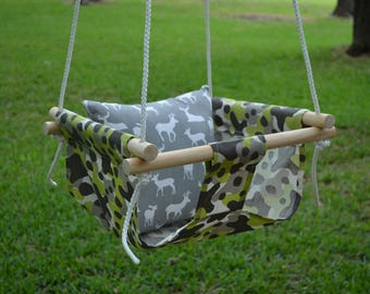 Handmade Canvas Baby Swing - READY TO SHIP!