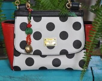 Christmas Bells  Key Ring, Handmade Beaded  Key chain, Christmas Bag Accessory, Christmas Handbag Charms, Christmas Key Fob, Christmas Gift