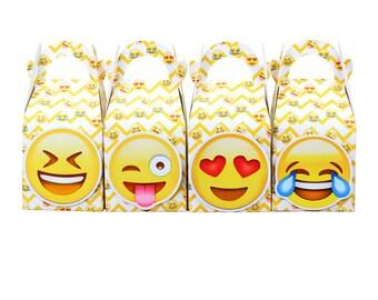 Emoji Favor Box Candy Box Gift Box Cupcake Box Boy Kids Birthday Party Supplies Decoration Event Party Supplies