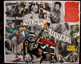 """""""TRIBUTE HAS MADIBA"""" COLLAGE ON CANVAS"""