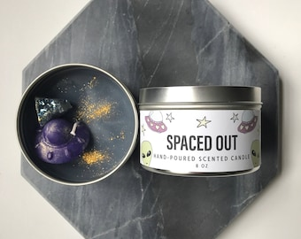 SPACED OUT galaxy candle 8 ounce soy candle