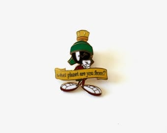 SALE // 90's 'What planet are you from' Looney Tunes Martian Pin