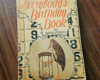Vintage Astrology Book 1925. Everybodys Birthday Book, Zodiac Signs, BIRTH Signs, Astrology, Gift Ideas, Astronomy, Science Book, Home Decor