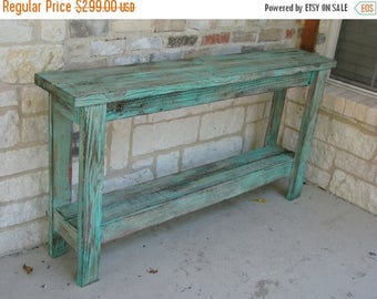SALE Rustic Sofa Table, Wall Table, Decor Table, Entry Way Table made from Reclaimed Wood