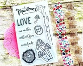 Mushy Love Stamps Christian Stamping Mushroom Wood Tree Slice branch Love One Another Worship Bible Journaling Growing Meadows Tai Bender