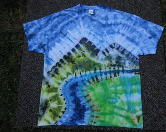 tie dye shirt, fly fishing, Orvis, trout, earth day shirt