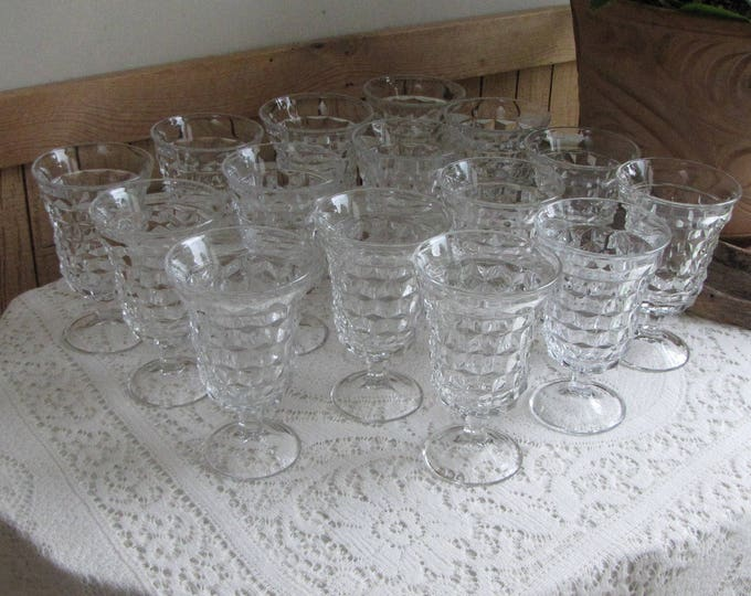 Vintage Fostoria American Low Water Goblets Fifteen (15) Glasses Available Priced Individually