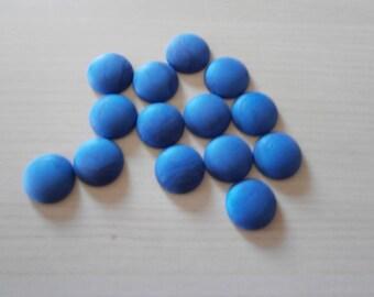Set of 14 cabochons blue