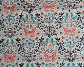 NEW * fabric butterflies, butterfly and birds... Sold in 10 cm
