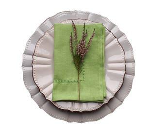 LINEN Napkins - LIGHT GREEN napkins - linen Napkin Set, Table napkin, table linen, wedding napkins, dinner napkins, cloth napkins