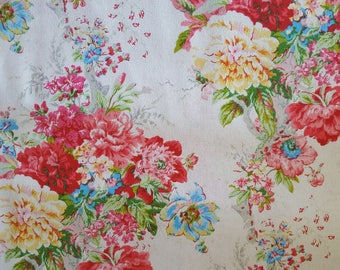 Ballard Bouquet Spring Cotton Duck Fabric (1 yard 12 inches)