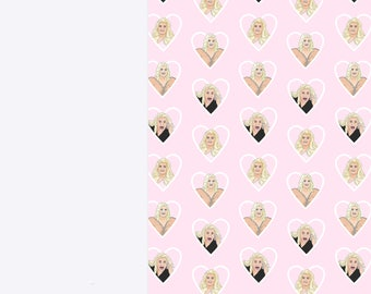 Gemma Collins Luxury Wrapping Paper Sheets | A3 Gift Wrap | 29.7 x 42.0CM Sheets | Memes, Essex, TOWIE