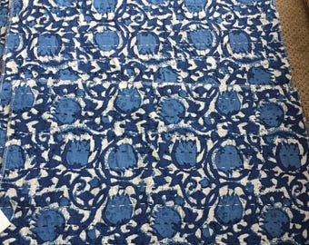 Blue floral India Sari Placemat set of 4