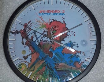 clock Jimi Hendrix wall decoration